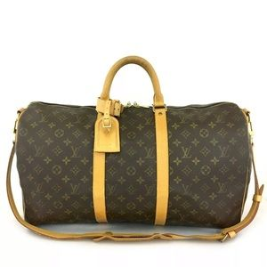 Louis Vuitton Keepall Bandouliere Luggage +Strap+